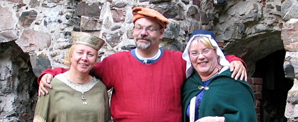Anne Ingman and others at Raseborg castle